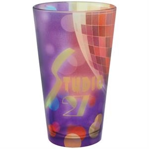 16 oz Full Color Frosted European Pilsner Glass