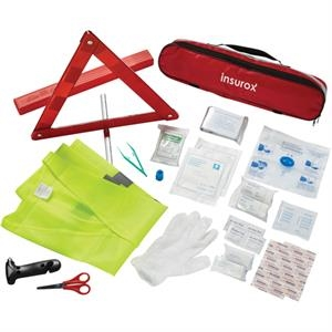 34 Piece Auto Safety First Aid Kit