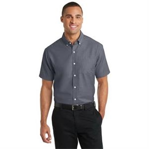 Port Authority Short Sleeve SuperPro Oxford Shirt.