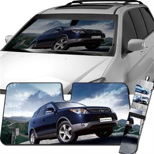 Collapsible Mylar Car Shade - Full Color