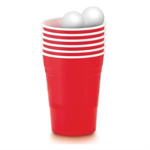 16 oz Plastic Party cup and ping pong balls Party Pong Kit