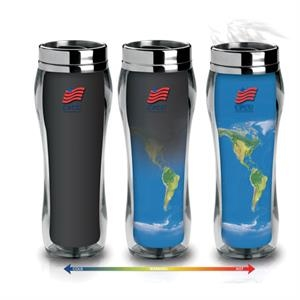 16 oz. double wall plastic /stainless Eclipse Global Tumbler