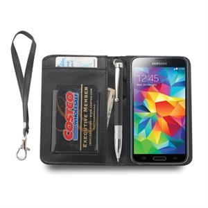 Faux Leather Phone wallet wristlet and stylus pen