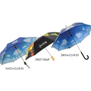 Cloud Print Umbrella With Auto Open And Cloud Design
