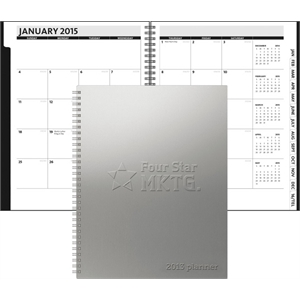 TheAnalyst (TM) Monthly Planner - Alloy Front /Chip Back