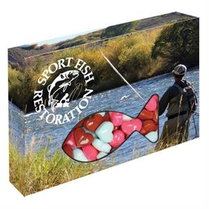 Customizable Fish Box Packaging with Candy Hearts
