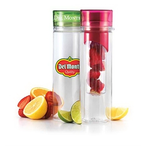 24 oz single wall Del Montisport bottle w/infuser