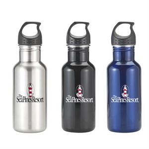 20 oz. single wall stainless Montigo Bay bottle w/carbainer