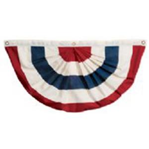 5' x 10' Sewn 5-Stripe Nylon Pleated Fan