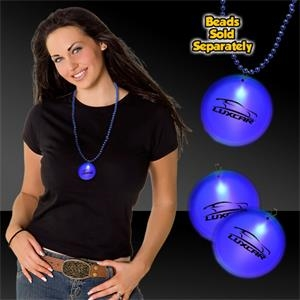 "Blue 2"" Lighted Badges with attached J-Hook medallion"