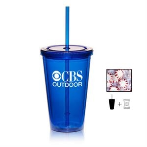 Plastic Tumbler Cup Drinkware with Starlite Mints - 16 oz.