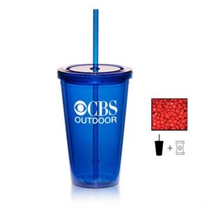 Plastic Tumbler Cup Drinkware with Cinnamon Red Hots- 16 oz.