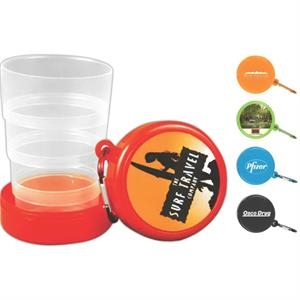 Pop Up 6- oz Collapsible Cup with Carabiner