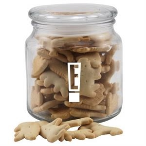 Animal Crackers in a Glass Jar with Lid