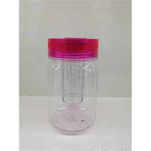 Plastic mason jar with infuser