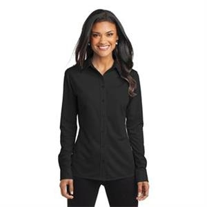 Port Authority Ladies Dimension Knit Dress Shirt.
