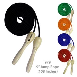 "Wooden Handle Jump Rope - Black - 9 Feet Long (108\"")"