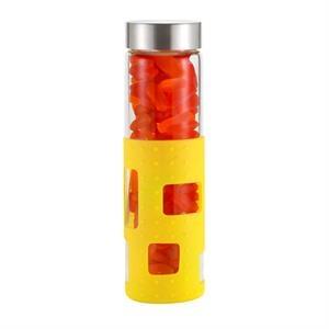 20 oz Glass Bottle w/silicone sleeve w/ Swedish Fish (R)