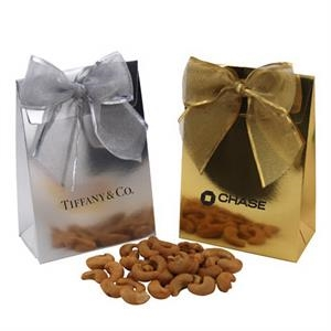 Cashews in a Stand Up Gift Box with Bow