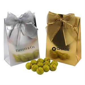 Chocolate Tennis Balls in a Stand Up Gift Box with Bow