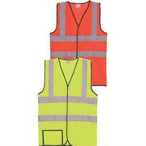 Dual Stripe L/XL Yellow Mesh Safety Vest