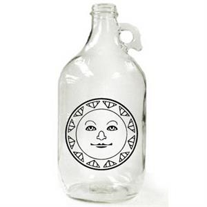 64 oz Clear Growler Jar  (lids sold separately -GR-LIDWHITE)