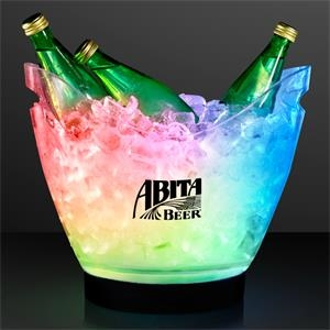 LED large ice bucket with remote