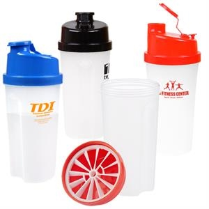 20 oz Plastic Fitness Shaker with Measurements