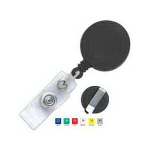 Stock Round Plastic Clip-on Badge Reel