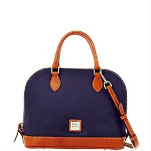 Pebble Grain Zip Zip Satchel
