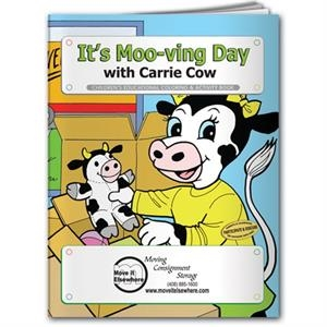 Coloring book- It's Moo-ving Day with Carrie Cow