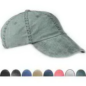Six panel pigment-dyed twill cap