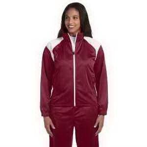 Harriton Ladies' Tricot Track Jacket