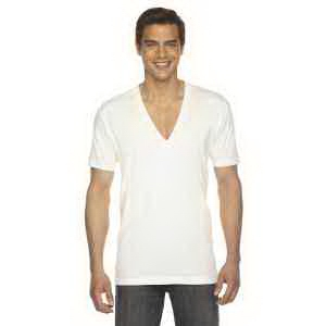 American Apparel Unisex Sheer Jersey Short-Sleeve V-Neck