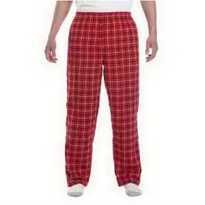 Unisex button-fly Collegiate flannel pant