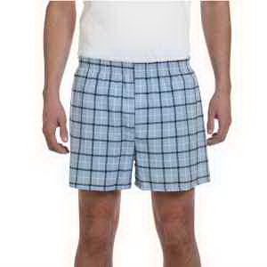 Unisex plaid flannel short