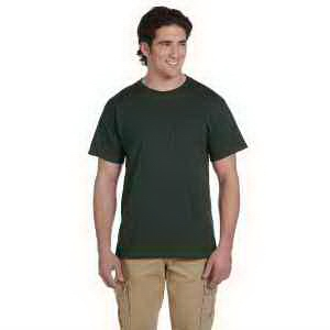 Jerzees 5.6 oz, 50/50 Heavyweight Blend Pocket T-Shirt