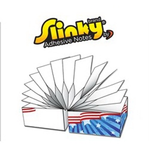 Slinky (TM) Brand Adhesive Notes Cubes- 2.75x2.75x2.75