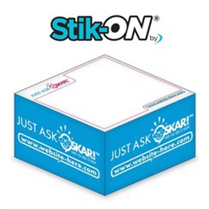 Stik-ON(R) - Adhesive Note Cubes - 3.875x3.875x1.9375-1 Colo