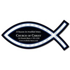 Magnet - Christian Fish Shape (4.825x2.175) - 20 Mil.