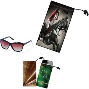 Sunglass/Cell Phone Microfiber Cloth Pouch