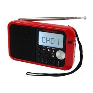First Alert AM/FM Weather Band Clock Radio w/Weather Alert