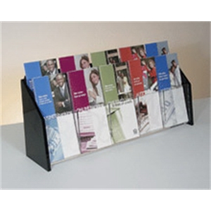 10-Pocket Deluxe Black and Clear Literature Holder