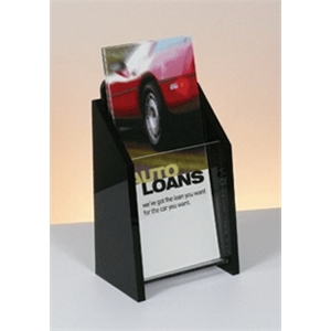 Single Pocket Deluxe Black and Clear Literature Holder