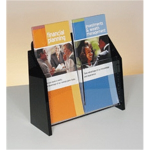 Deluxe Black and Clear Literature Holder