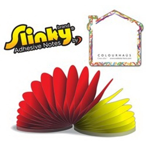 Slinky(R) Adhesive Notes - House - 50 Sheets