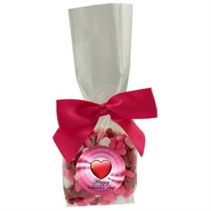 Mug Stuffer Gift Bag with Candy Hearts