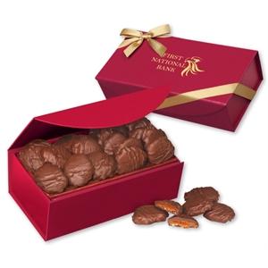 Pecan Turtles in Scarlet Magnetic Closure Gift Box