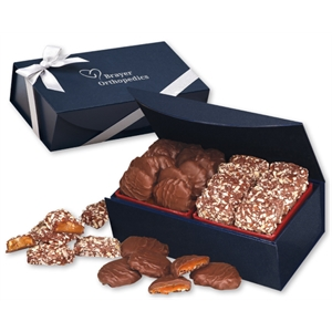 Toffee & Turtles in Navy Magnetic Closure Gift Box