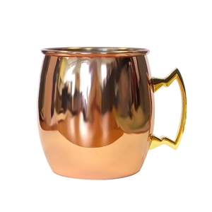 20 oz Copper single wall  Moscow Mule with brass handle